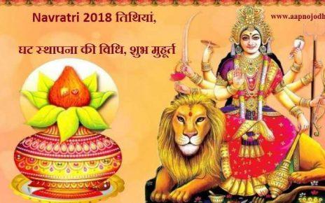 Navratri 2018: तिथियां, घट स्थापना की विधि, शुभ मुहूर्त व नवरात्र का महत्व Navratri 2018 dates, significance, pooja vidhi, ghat stapana shubh muhurat