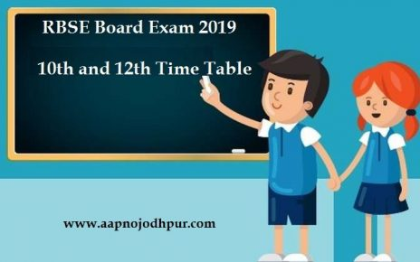 RBSE Board Exam Timetable For Class 10th and 12th Announced, RBSE declared Secondary and senior secondary exam schedule for Y 2018-19
