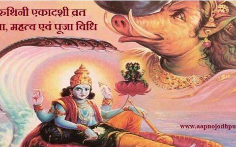 Varuthini Ekadashi 2019:वैशाख माह के कृष्ण पक्ष की एकादशी को वरुथिनी एकादशी कहा जाता है. इस बार Varuthini Ekadashi30 अप्रैल मंगलवार को है. मान्यता है कि इस दिन विष्णु भगवान की विशेष पूजा करने से घर me सुख-समृद्धि, सौभाग्य और पुण्य लाभ भी मिलता है। वरुथिनी एकादशी व्रत महत्व, मुहूर्त, कथा एवं पूजन विधि।