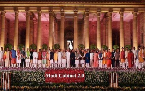 Modi Cabinet 2.0: Amit Shah New HM and Sitharaman as FM: Prime Minister Narendra Modi and his Council of Ministers took an oath to the office on May 30, 2019.The 17th Lok SabhaUnion Cabinet includes 24 cabinet ministers, 9 ministers of state with independent charge and 24 ministers of state.